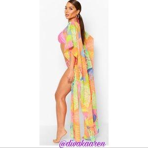 Vibrant Kimono | Beach/Pool Cover up Duster Dress
